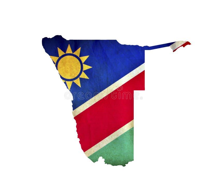 Map of Namibia isolated royalty free stock image