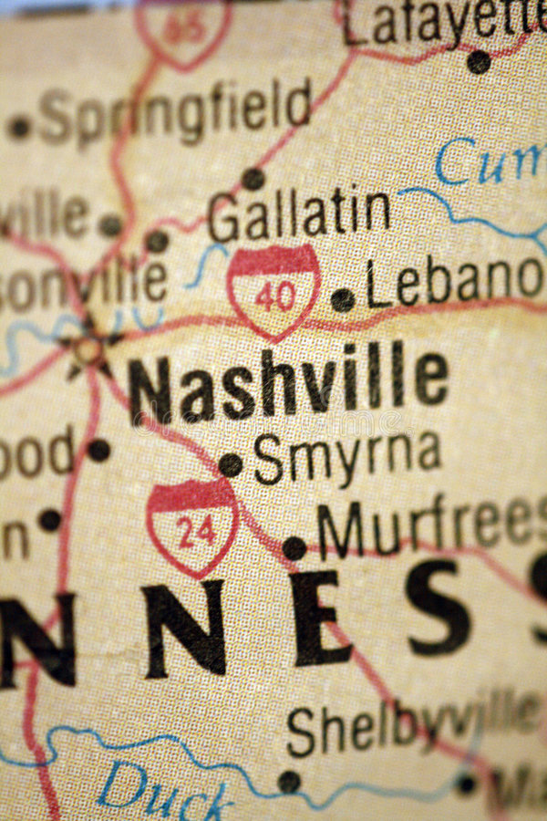 Download Map of Nashville Tennessee stock image. Image of capital - 5033673