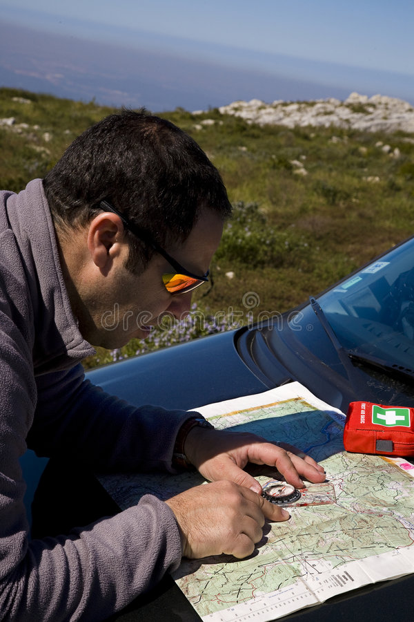 Download Map navigation, trekking stock image. Image of expedition - 8632393