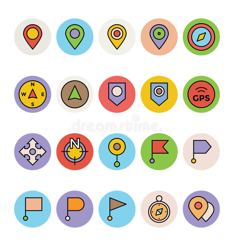 Map and Navigation Vector Icons 1. Provide easy access to your location with this Maps and Navigation Vector Icons Set! These icons are so easy to integrate into royalty free illustration