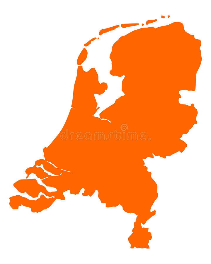 Map of the Netherlands. Detailed and accurate illustration of map of the Netherlands stock illustration