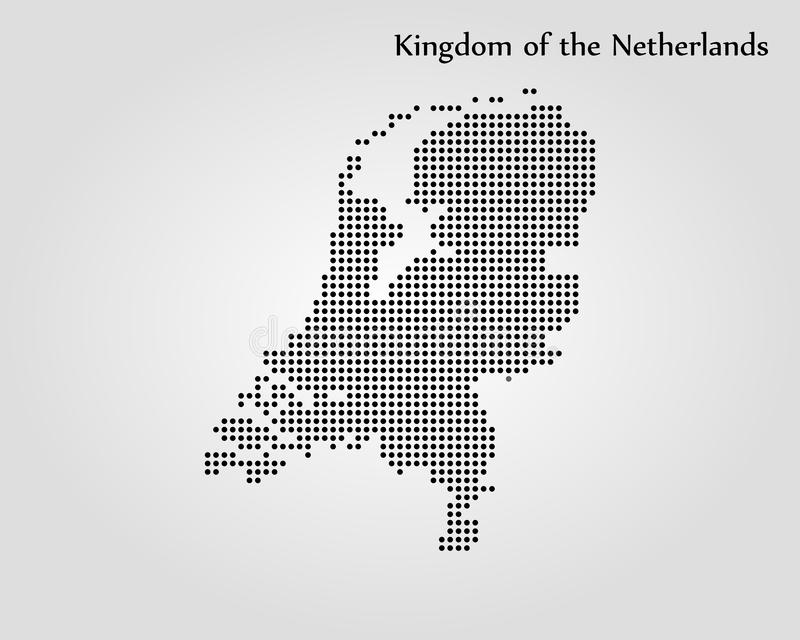 Map of Netherlands. Vector illustration. World map. Map of Netherlands. Vector illustration stock illustration