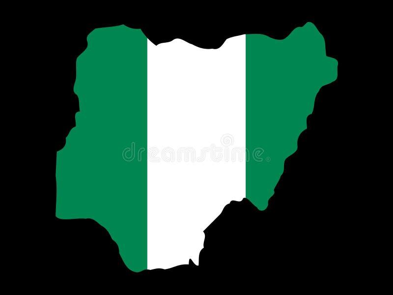 Map of Nigeria vector illustration