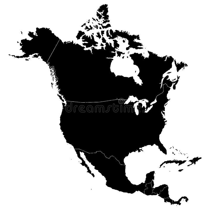 Map of North America stock vector Illustration of alaska 115968617