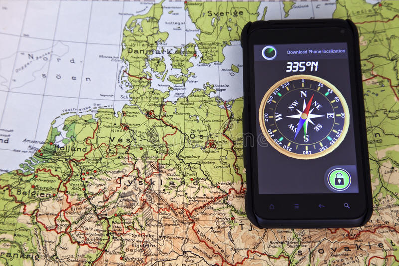 Download Map North Europe And Compass Stock Image - Image of nobody, north: 23930805