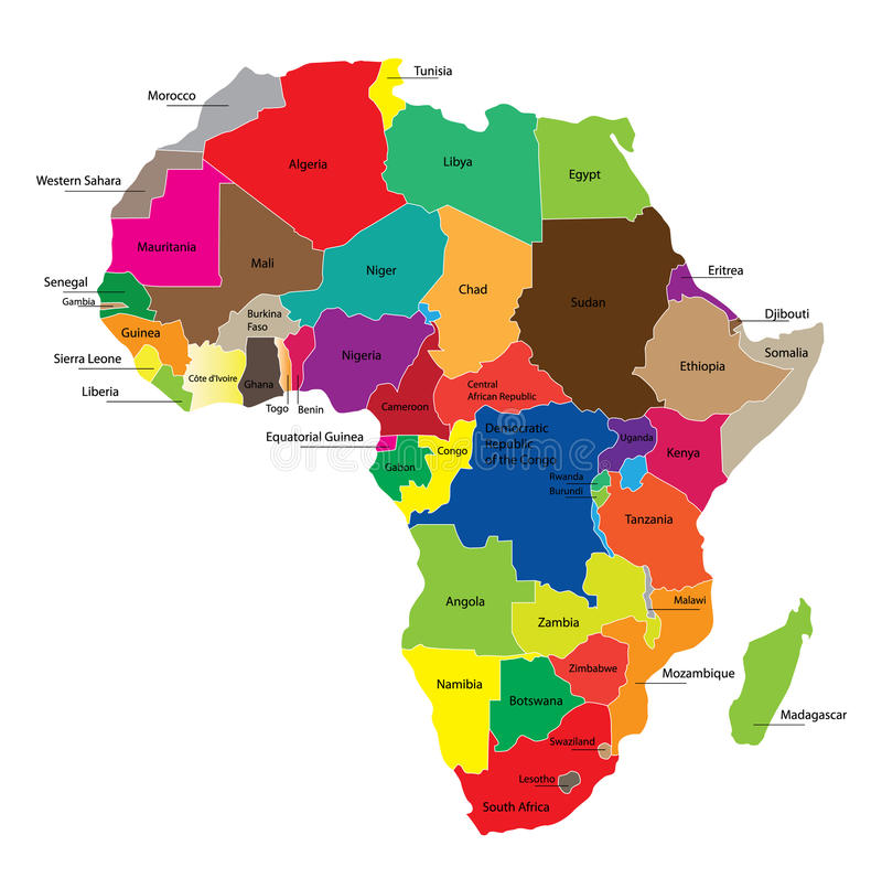 Free Map Of Africa Royalty Free Stock Photos - 18842968