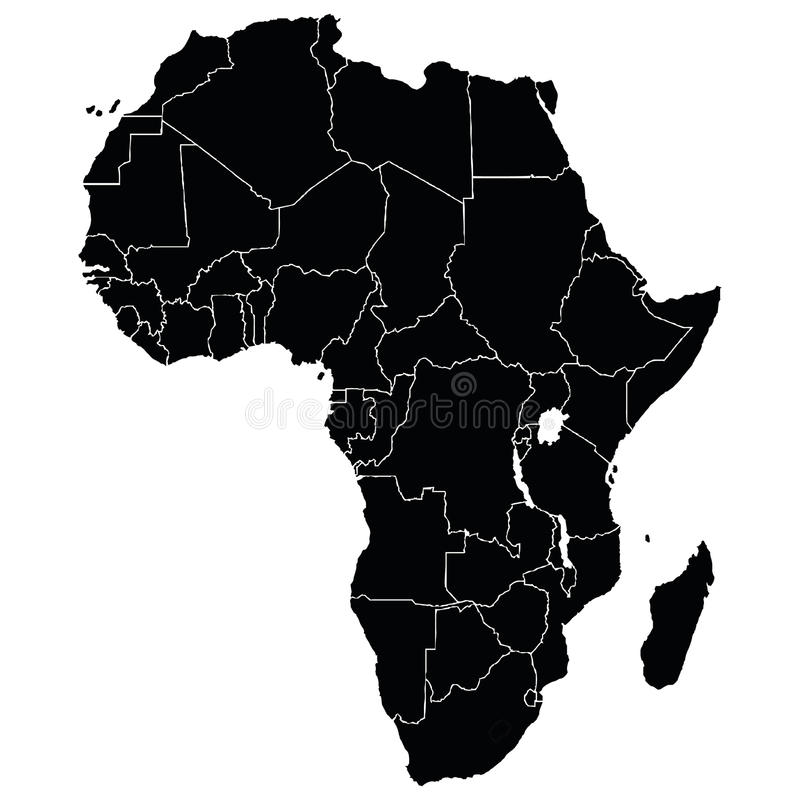 Free Map Of African Royalty Free Stock Photo - 92415465