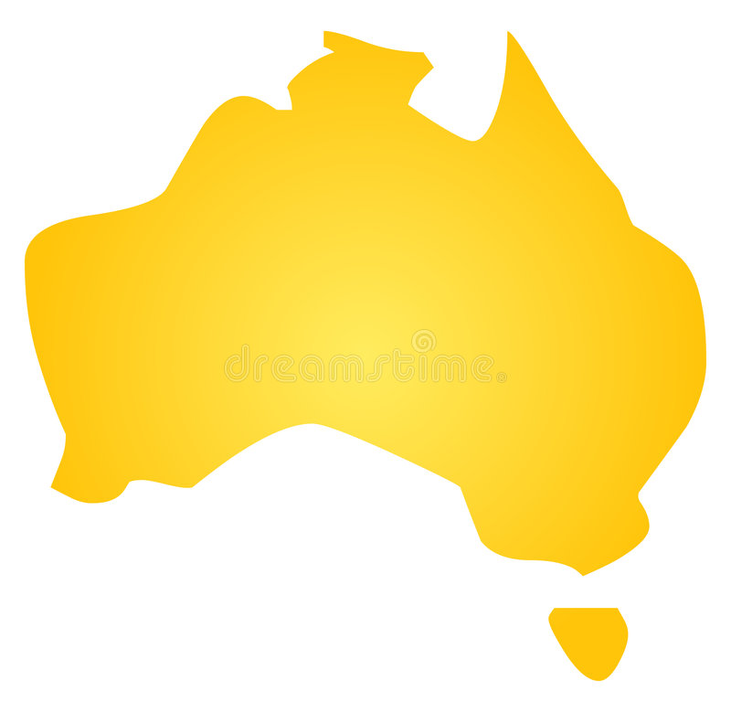 Free Map Of Australia Royalty Free Stock Photography - 9128727