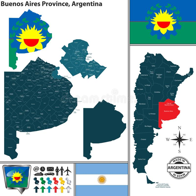 Free Map Of Buenos Aires Province, Argentina Stock Photo - 142125110
