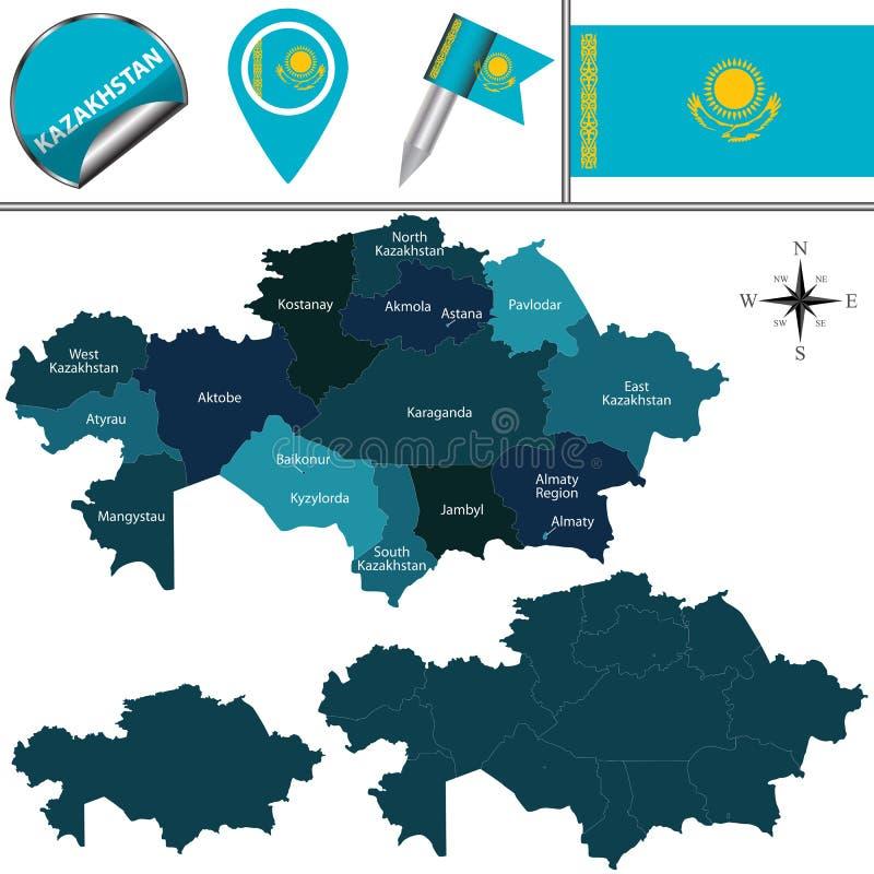 Free Map Of Kazakhstan Stock Image - 64349401