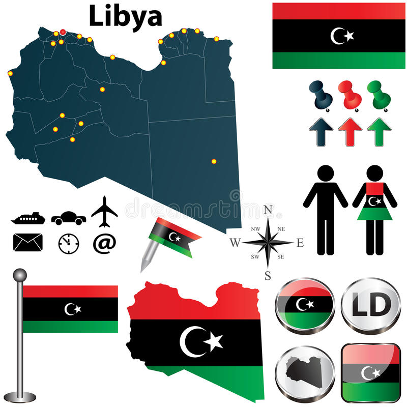 Free Map Of Libya Royalty Free Stock Photography - 30627667
