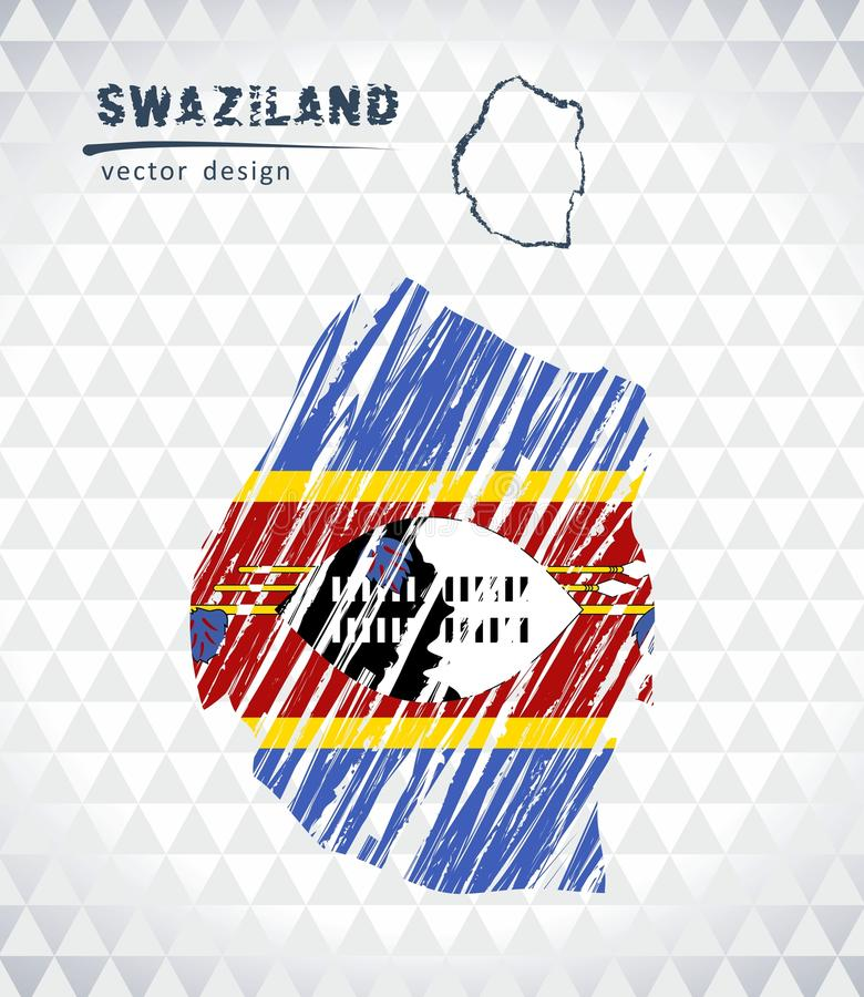 Free Map Of Swaziland With Hand Drawn Sketch Pen Map Inside. Vector Illustration Stock Photo - 118543710