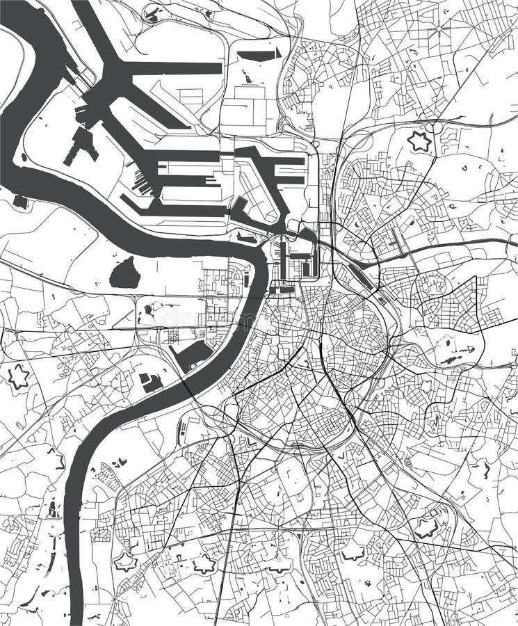 Free Map Of The City Of Antwerp, Belgium Royalty Free Stock Photos - 135875878