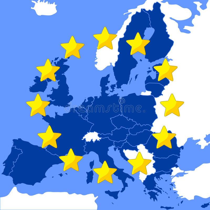 Free Map Of The European Union Royalty Free Stock Photography - 67887647