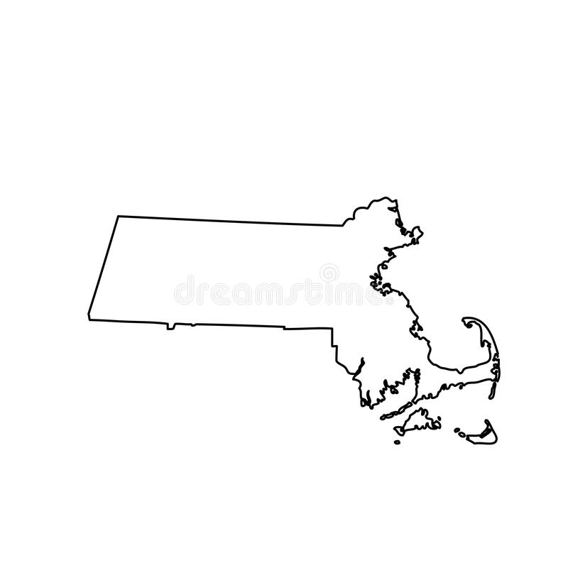 Free Map Of The U.S. State Massachusetts Royalty Free Stock Photography - 89899167