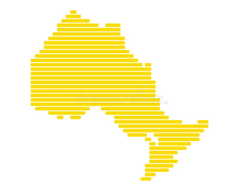 Map of Ontario. Detailed and accurate illustration of map of Ontario vector illustration