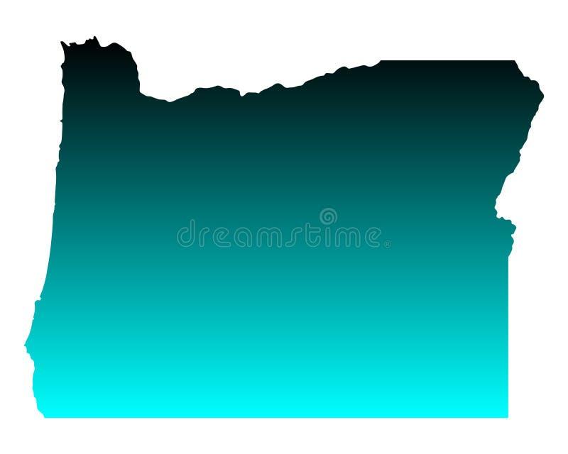 Map of Oregon vector illustration
