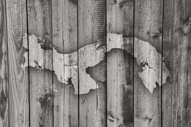 Map of Panama on weathered wood. Colorful and crisp image of map of Panama on weathered wood stock photography