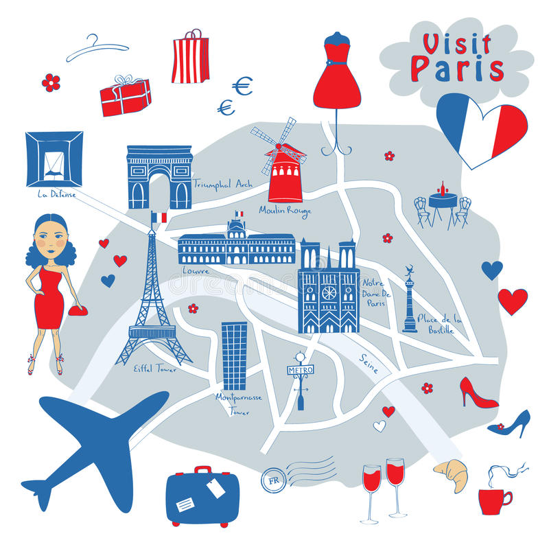 Map of Paris royalty free stock image
