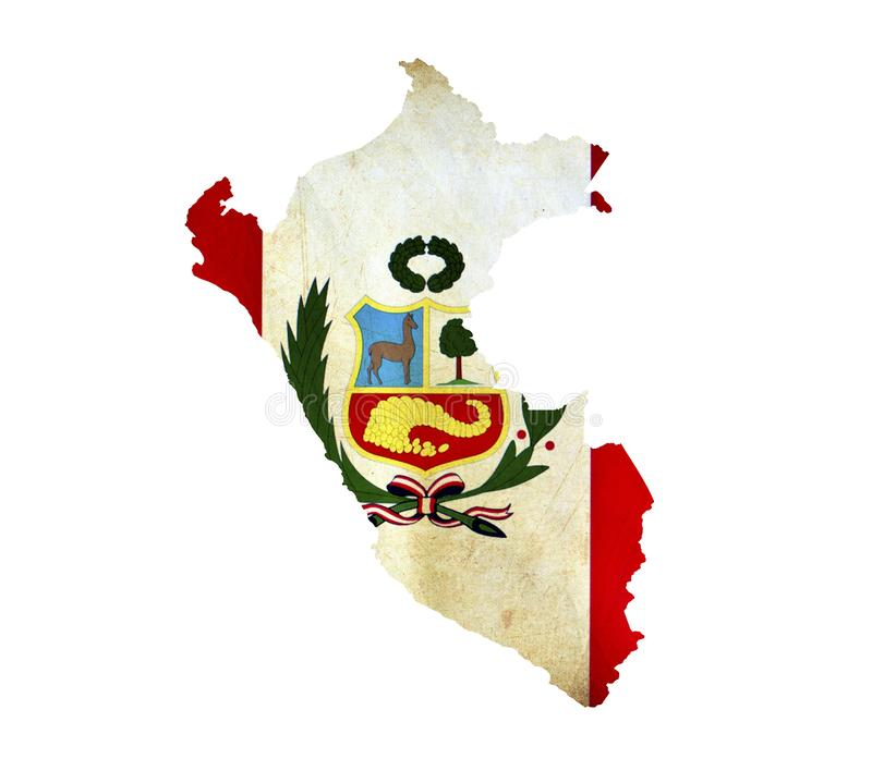 Map of Peru isolated royalty free stock photos