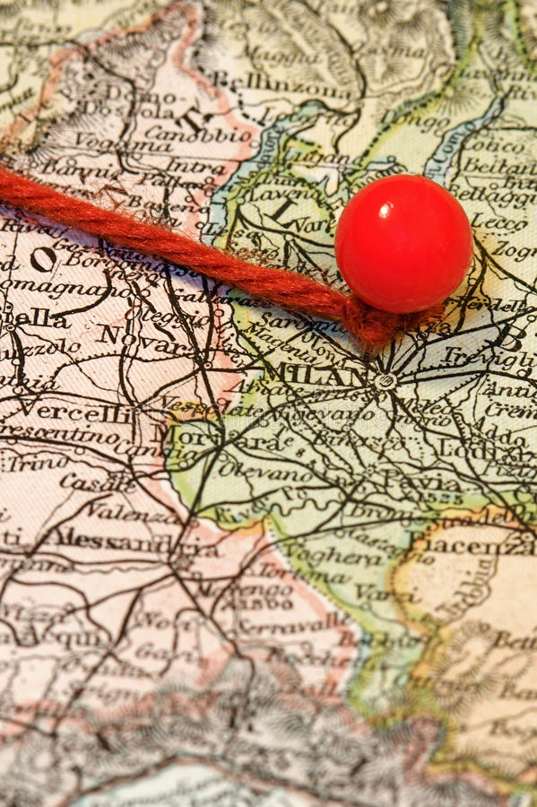 Download Map Pin stock image. Image of string, antique, italy - 10308719