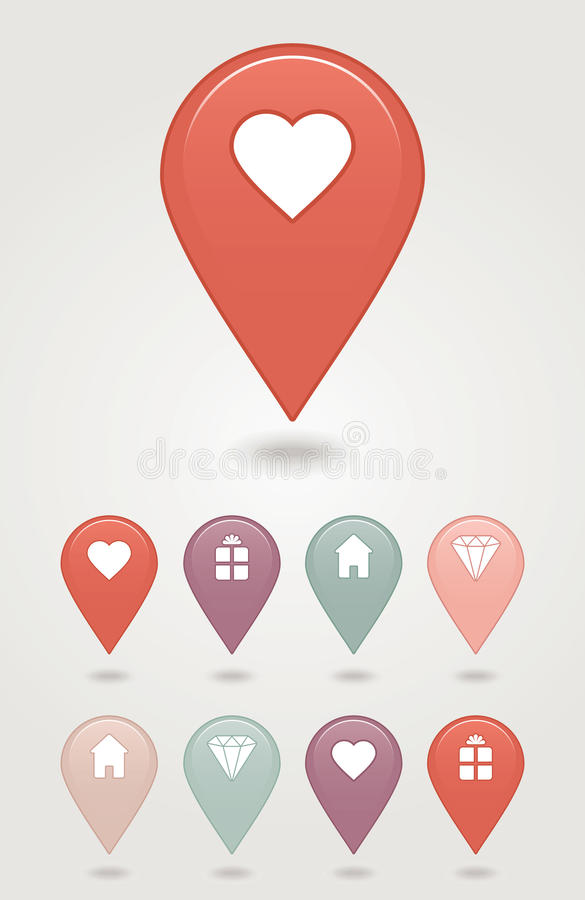 Download Map pin button stock vector. Illustration of technology - 30603202
