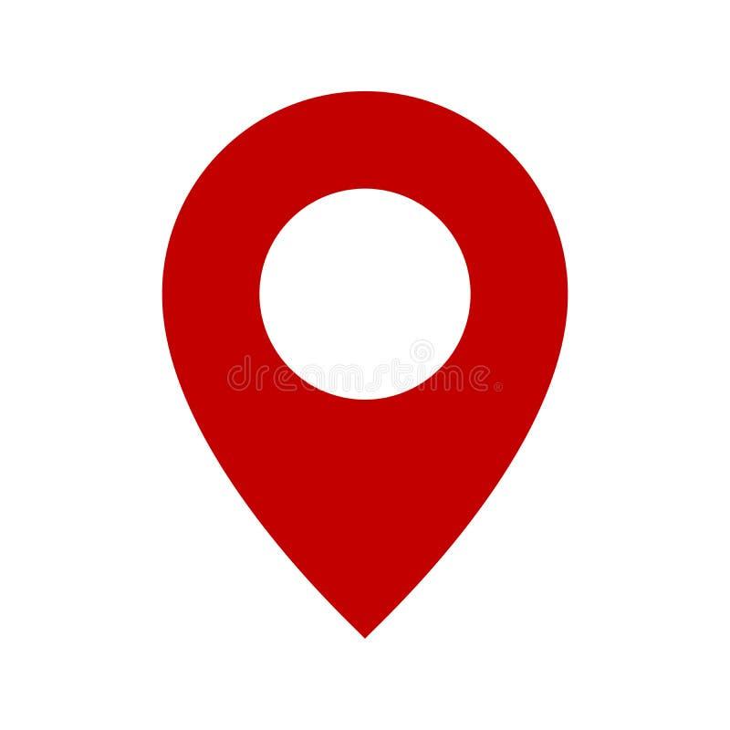 Map pin flat design style modern icon, pointer minimal vector symbol, marker sign. Eps 10 stock illustration
