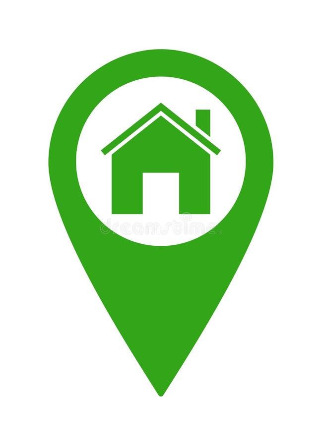 Home pointer location icon vector illustration