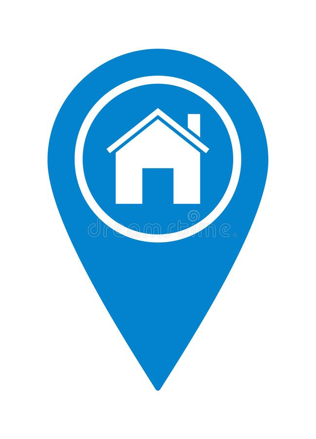 Home pointer location icon royalty free illustration