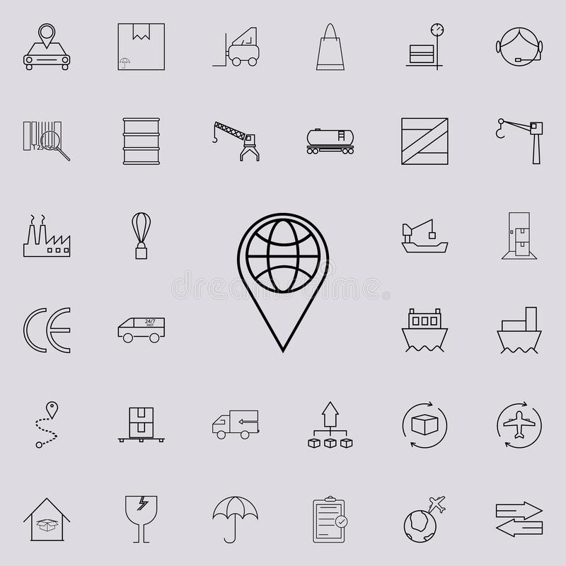 Map pin icon. logistics icons universal set for web and mobile. On colored background vector illustration