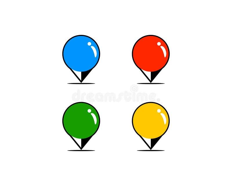 Map pin logo design element. Map pin logo royalty free illustration
