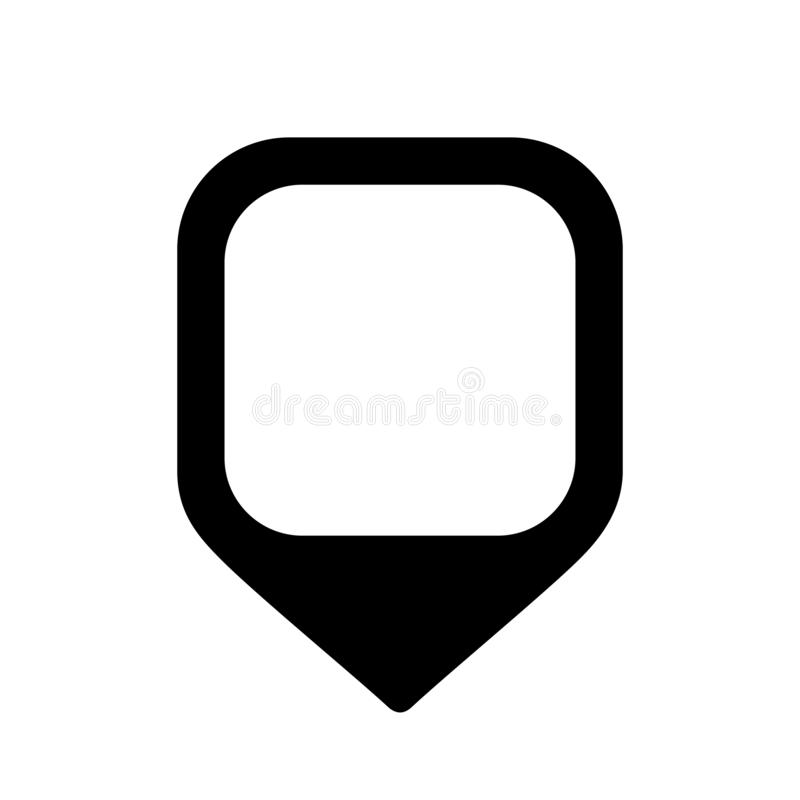 Map pin marker royalty free illustration