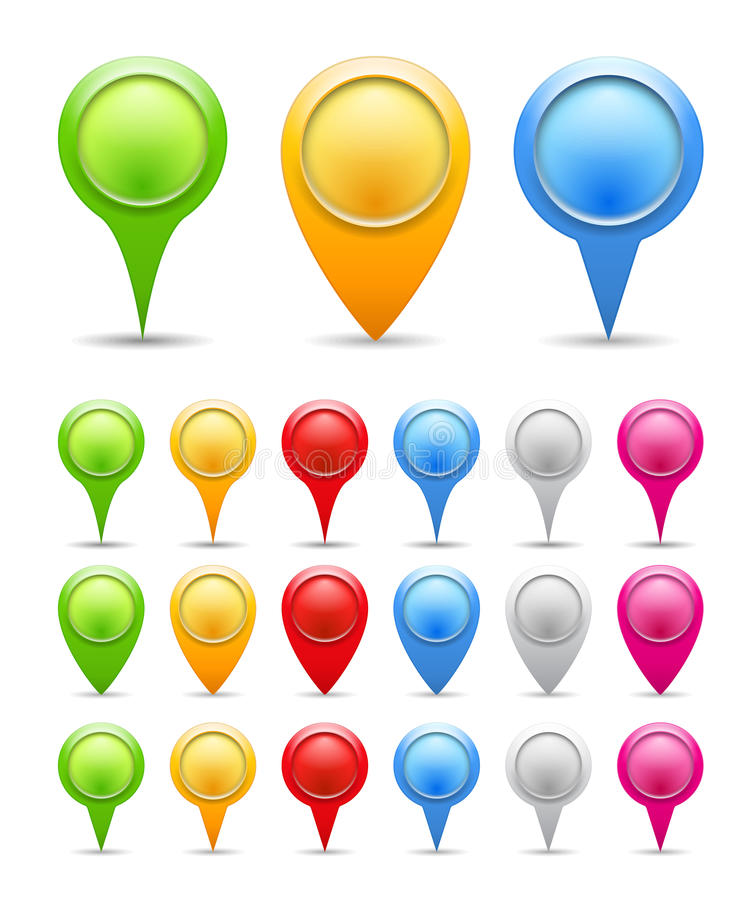 Map Pins royalty free illustration