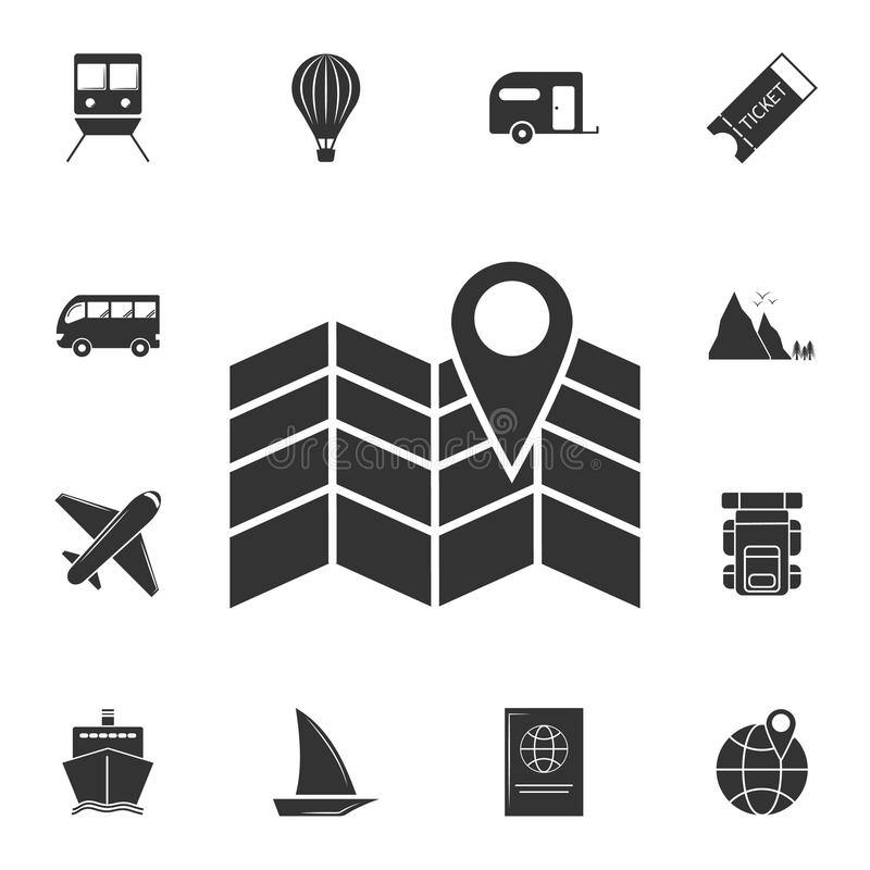 Map point icon. Detailed set of travel icons. Premium graphic design. One of the collection icons for websites, web design, mobile. App on white background vector illustration