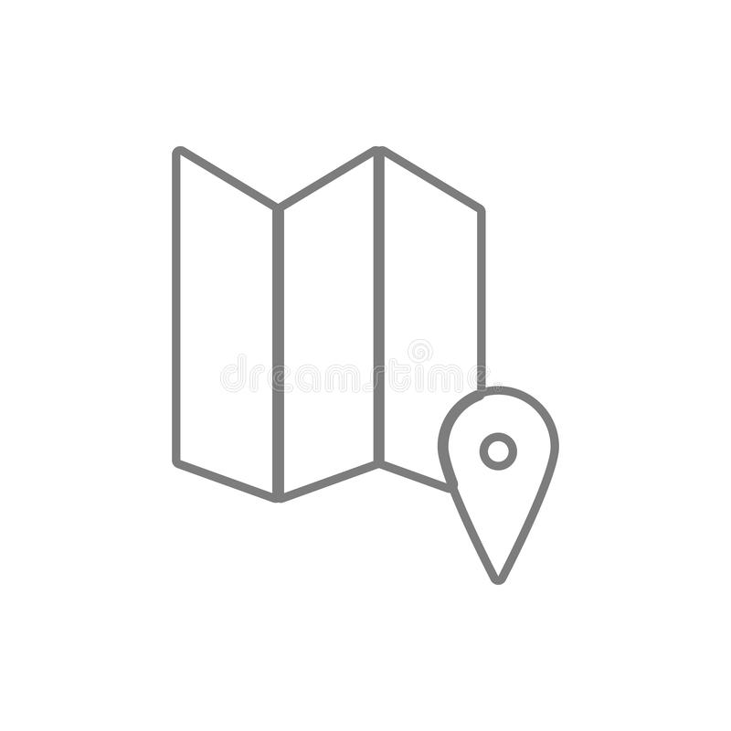 Map point icon. Element of cyber security for mobile concept and web apps icon. Thin line icon for website design and development. App development on white stock illustration