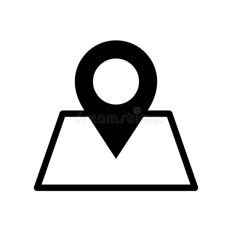 Map point icon flat vector illustration design. Isolated on white background royalty free illustration
