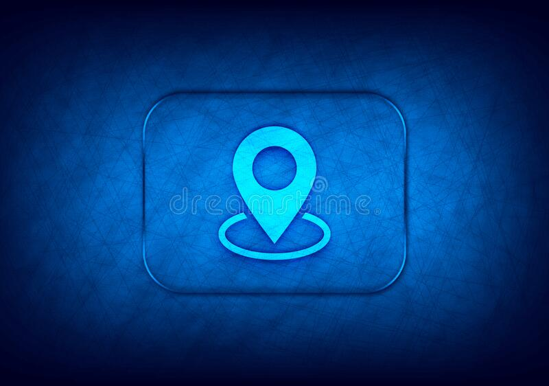 Map point icon abstract digital design blue background. Map point icon isolated on abstract digital design blue background stock illustration