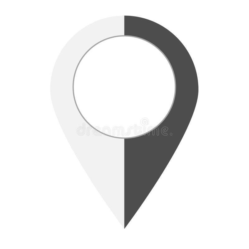 map point icon on white background. flat style. pin pointer location icon for your web site design, logo, app, UI. pin point sign stock illustration