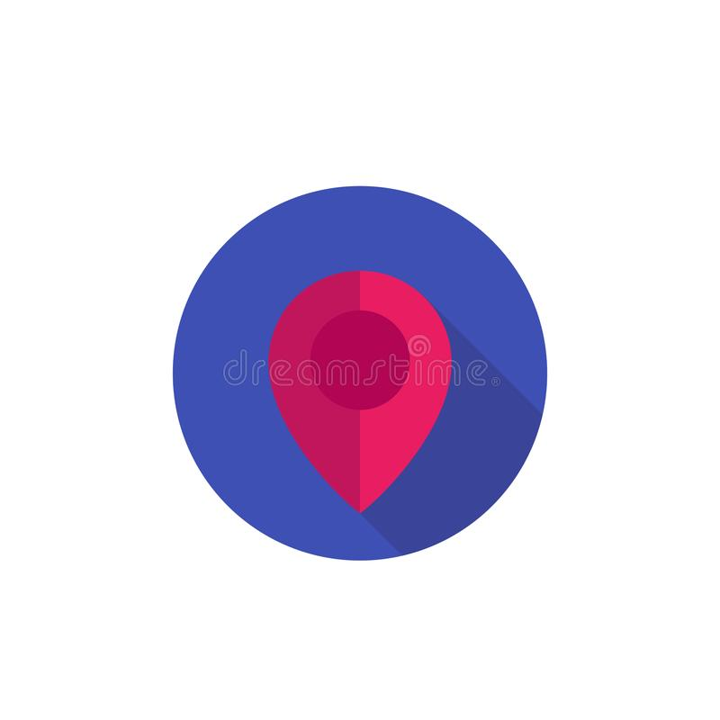 Map Pointer, Location Icon, Blue Pin On White Stock Vector