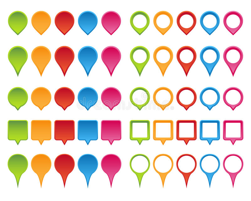 Download Map pointer set stock vector. Illustration of markers - 31921931