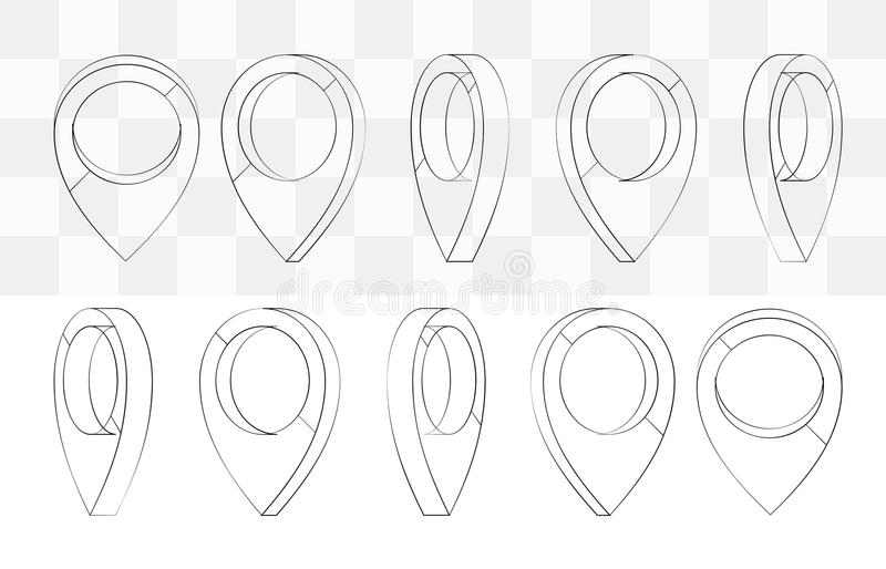 Location Pin Icon On Transparent  Map Marker Sign  Flat