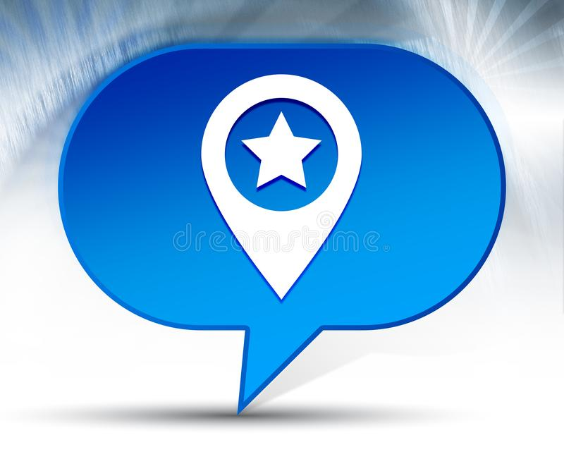 Map pointer star icon blue bubble background royalty free stock image