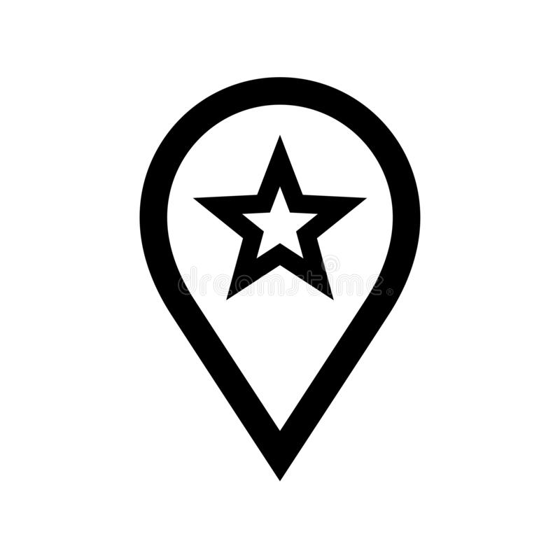 Map pointer star icon flat vector illustration design. Isolated on white background vector illustration