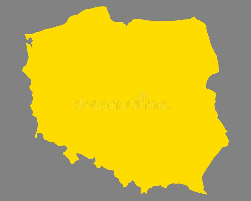 Map of Poland. Detailed and accurate illustration of map of Poland vector illustration