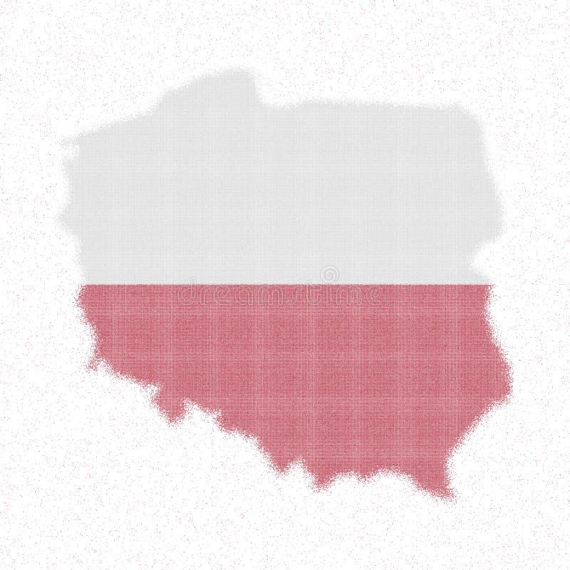 Map of Poland. royalty free illustration