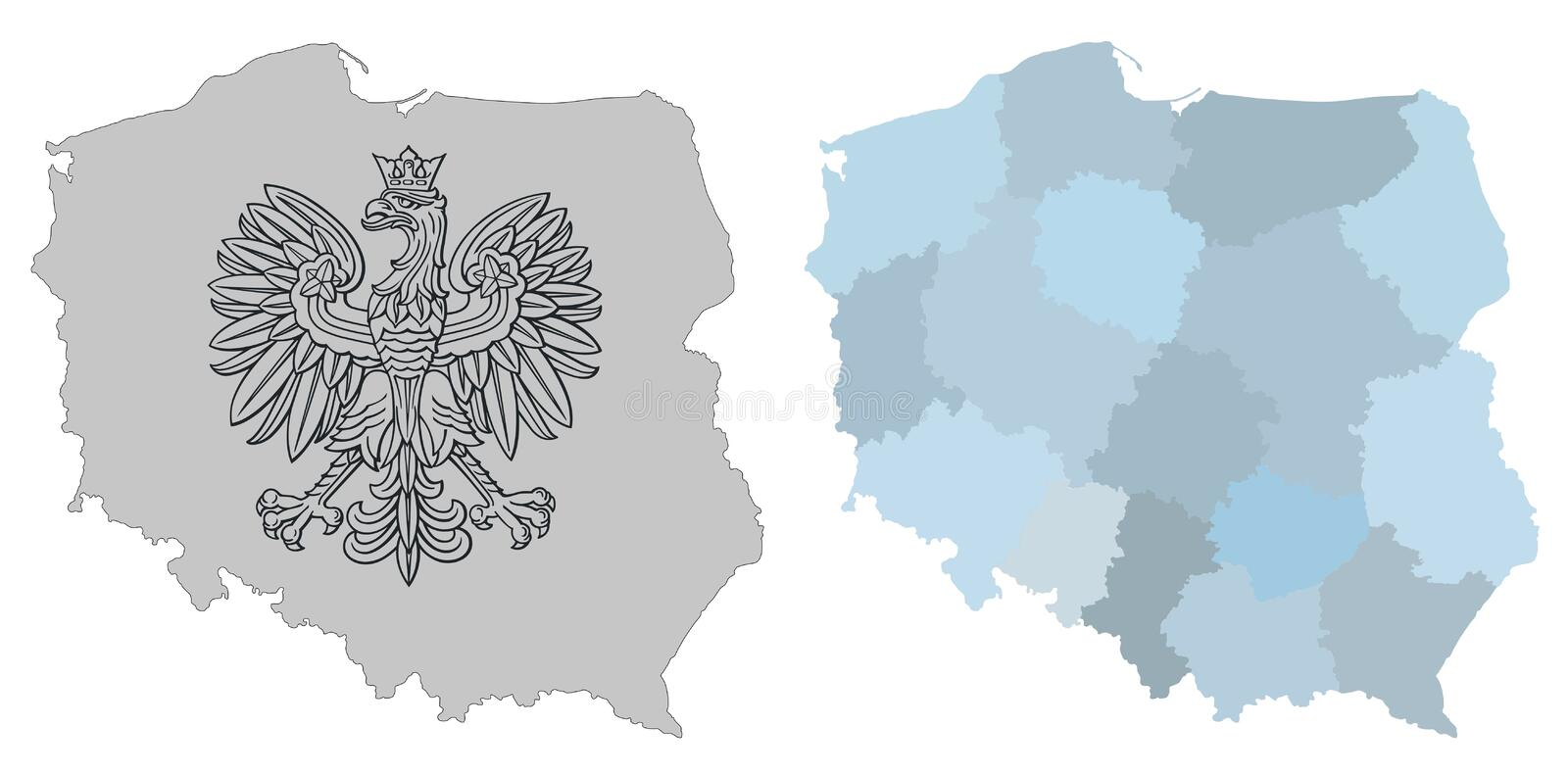 Map of Poland. Map of Poland, vector illustration vector illustration