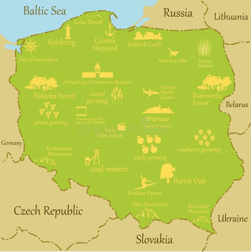Map of Poland - vector illustration vector illustration