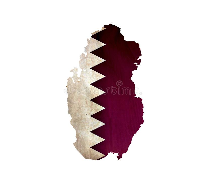 Map of Qatar isolated royalty free stock images