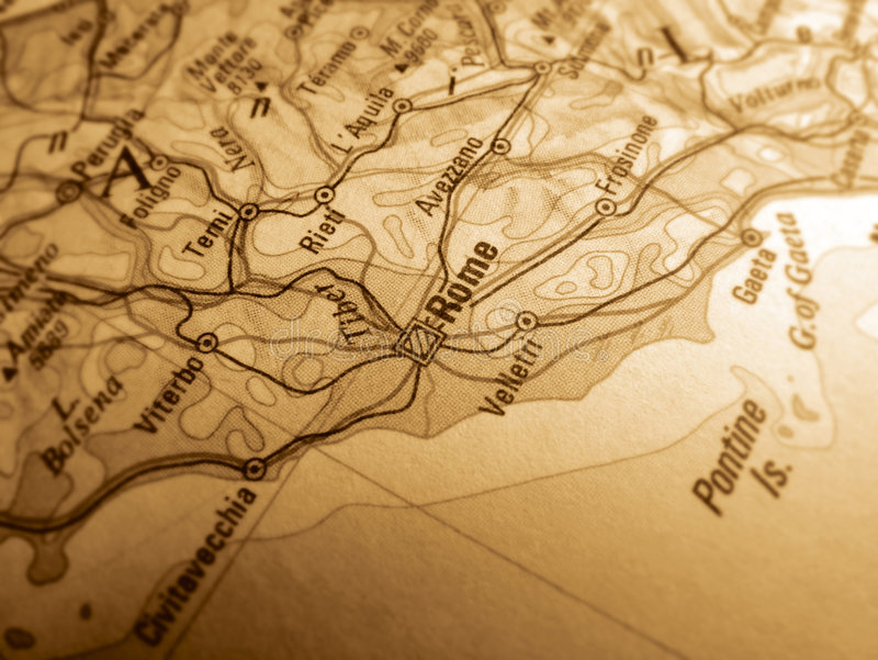 Map of Rome royalty free stock images