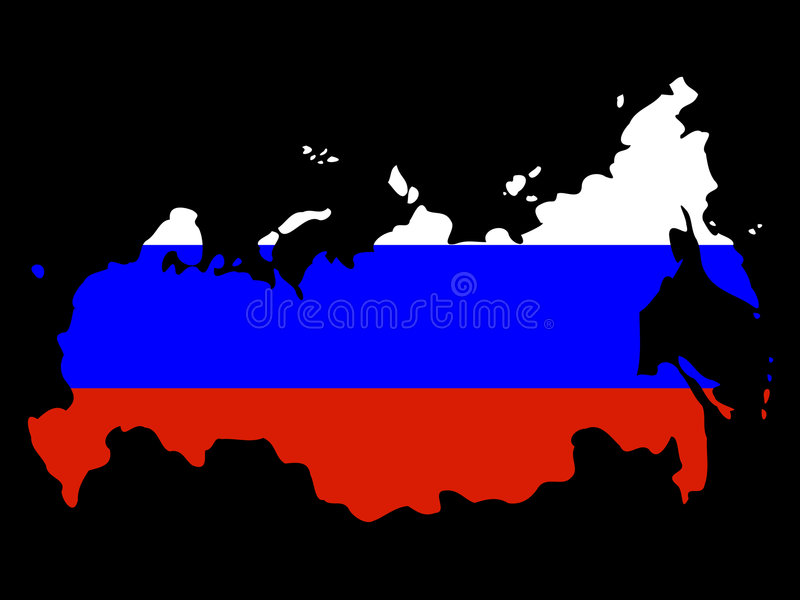 Map Of Russia Royalty Free Stock Photography